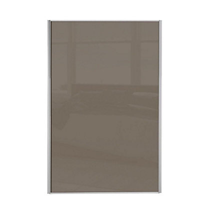 Image for Loft Silver Frame Cappuccino Glass Sliding Door - 762mm from StoreName