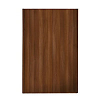 Loft Walnut Frame Walnut Panel Sliding Door - 762mm