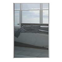 Loft Silver Frame Mirror Sliding Door - 914mm