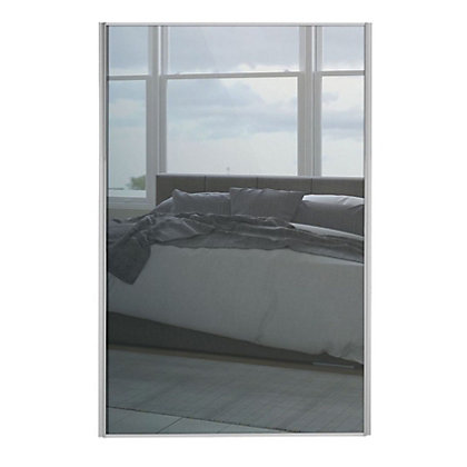 Image for Loft Silver Frame Mirror Sliding Door - 914mm from StoreName