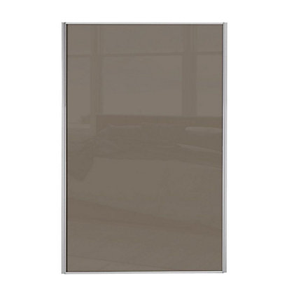 Image for Loft Silver Frame Cappuccino Glass Sliding Door - 914mm from StoreName
