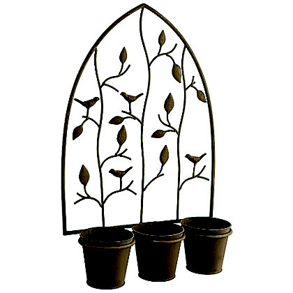 Image for Nature Triple Pot Wall Planter from StoreName