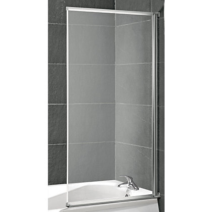 Image for Aqualux Value Fully Framed White Bath Screen - 1300 x 700mm from StoreName