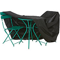 Premium Garden Furniture Bistro Set Cover - Black