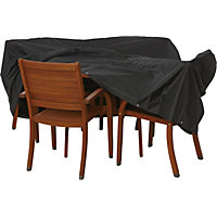 Premium Round Garden Furniture Cover - Black