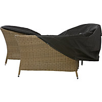 Premium Medium Oval or Rectangular Garden Furniture Cover - Black