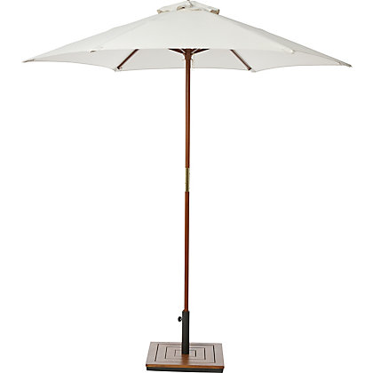 Image for Cream Wooden Parasol in Cream - 2M from StoreName