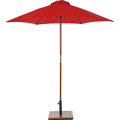 Image for Raspberry Wooden Parasol in Raspberry - 2M from StoreName