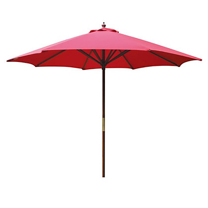 Image for Raspberry Wooden Parasol - 2.7m from StoreName