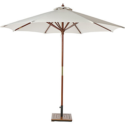 Image for Natural Wooden Parasol - 2.7m from StoreName