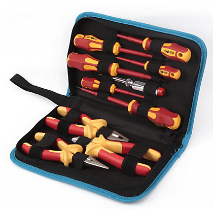 Image for Homebase 10 Piece VDE Pilers and Screwdrivers Set from StoreName