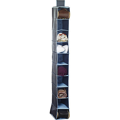 Image for Russel 10 Pocket Shoe Organiser - Dark Blue with Light Blue Trim from StoreName