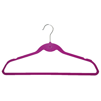 Image for Russel Set of 5 Pink Velvet Suit Hangers from StoreName