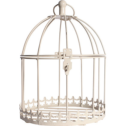 Image for Birdcage Hanging Basket - Cream from StoreName