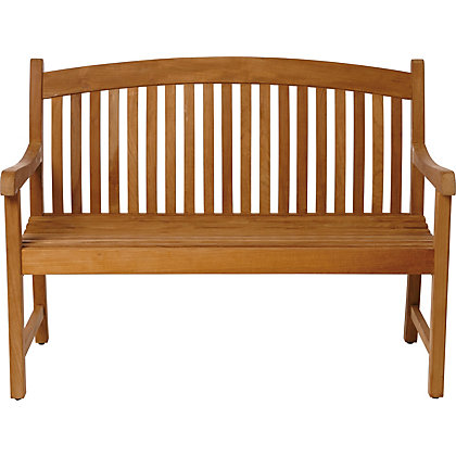 Image for Greenwich 2 Seater Teak Garden Bench - Golden Brown from StoreName
