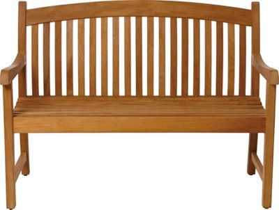Greenwich 2 Seater Teak Garden Bench Golden Brown