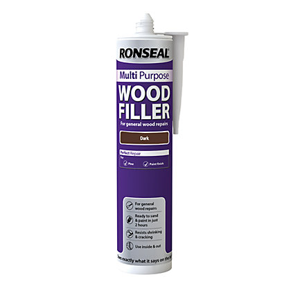 Image for Ronseal Multipurpose Wood Filler Cartridge - Dark - 310ml from StoreName