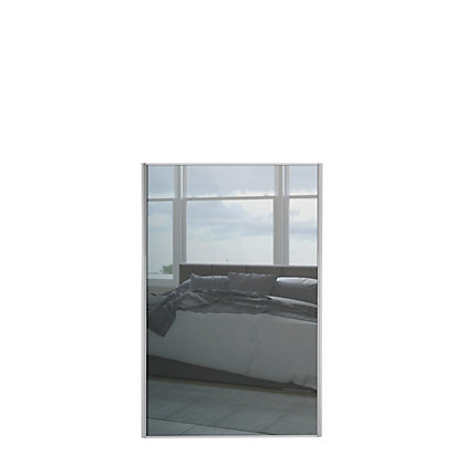 Image for Loft Silver Frame Mirror Sliding Door - 762mm from StoreName