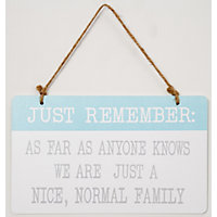Nice Normal Family Hanging Sign