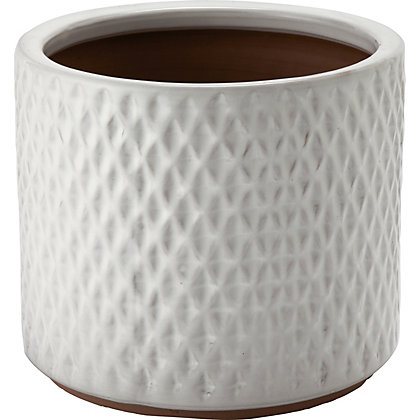Image for Livorno White Garden Planter - 29cm from StoreName