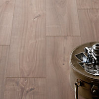 Hygena Sun Bleached Walnut Laminate Flooring - 2.22sq m per pack