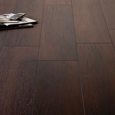 Homebase schreiber smokey mountain hickory laminate for Best rated laminate flooring