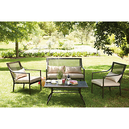 Rimini garden sofa set for Outdoor furniture homebase