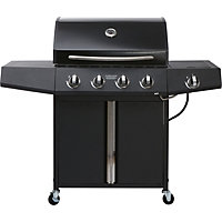Montana 4 Burner Black Gas BBQ - Home Delivery