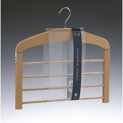 Image for Russel 4 Bar Trouser Hanger in FSC Beech Wood from StoreName