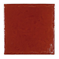 Cotswold Gloss Wall Tiles - Deep Ruby - 100 x 100mm - 25 pack