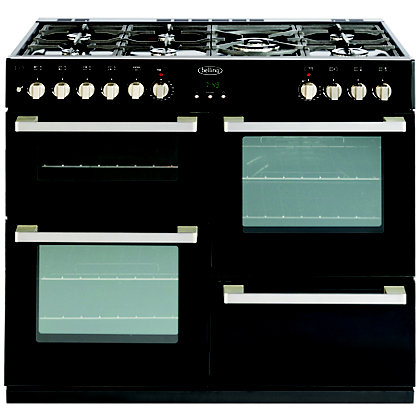 Image for Belling 444443015 DB4 100DF Range Cooker - Black from StoreName