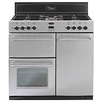 Belling Classic 444443487 90GT Range Cooker - Silver