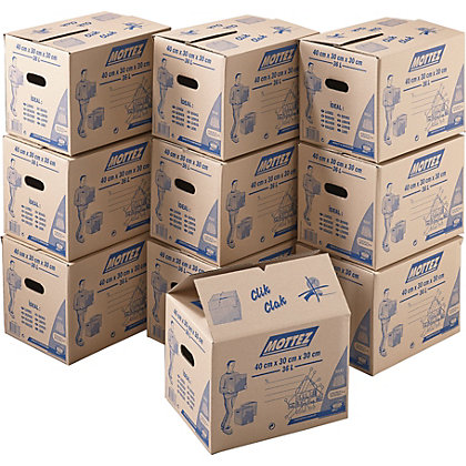 Image for 36L Cardboard Boxes - Set of 10 from StoreName