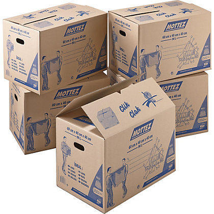 Image for 96L Cardboard Boxes - Set of 5 from StoreName