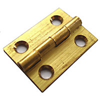 Butt Hinge Drawn Brass - 38mm