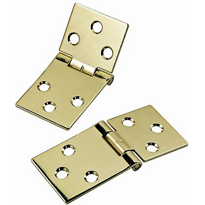Image for Back Flap Hinge Electro Brass - 25mm - Pack of 2 from StoreName