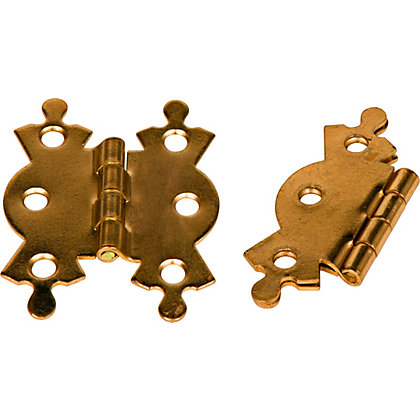 Image for Butterfly Butt Hinge Brass - 50mm - Pack of 2 from StoreName