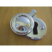Stormguard Key Hole Cover Draught Excluder - Chrome