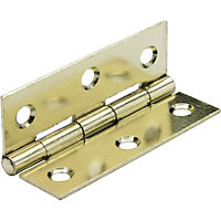 Butt Hinge Electro Brass - 75mm - Pack of 2