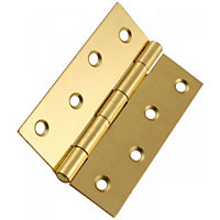Butt Hinge Electro Brass - 100mm - Pack of 2