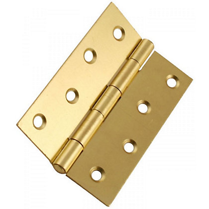 Image for Butt Hinge Electro Brass - 100mm - Pack of 2 from StoreName