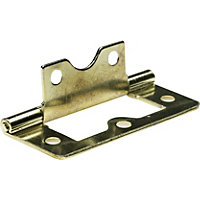 Flush Hinge Electro Brass - 63mm - x2