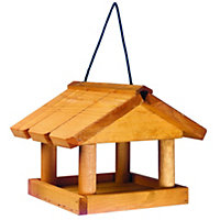 Gardman Wooden Mini Hanging Bird Table - Natural Tan