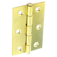 Loose Pin Hinge Electro Brass - 75mm - Pack of 2