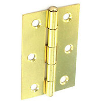 Loose Pin Hinge Electro Brass - 100mm - Pack of 2