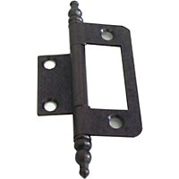 Finial Flush Hinge Antique - 50mm - Pack of 2