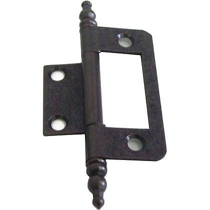 Image for Finial Flush Hinge Antique - 50mm - Pack of 2 from StoreName