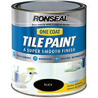 Ronseal Black - One Coat Tile Paint - 750ml