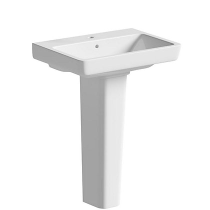 Image for Vitale Energy Full Pedestal Basin 550mm - 1 Tap Hole from StoreName