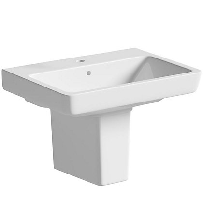 Image for Vitale Energy Semi Pedestal Basin 600mm - 1 Tap Hole from StoreName